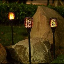 4 x LED Flickering Flame Outdoor Solar Torch Stake