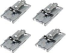 4 x Metal Self Set Mouse Trap British Made Traps