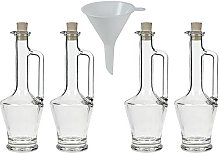 4 x Small Glass Bottle 250 ml Oil Bottle Liqueur