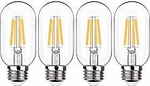 4 X Vintage Short Tubular LED Filament Bulb T45,