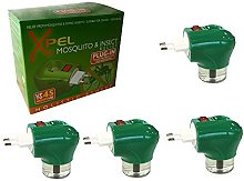4x Xpel Mosquito Insect Repellent Travel Plug in