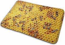 40 * 60cm Honey Bees On A Honey Combs Non-Slip