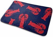 40 * 60cm Red Lobster Non-Slip Doormat Bath Floor