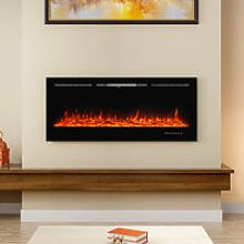 40 Inch LED Electric Fireplace Wall Mounted Wall