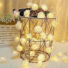 40 LED Rose Flower String Lights Battery Operated