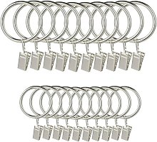 40 pieces of metal curtain rings with clips for