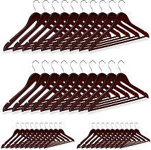 40 x Wooden Coat Hanger, Clothes Hangers for