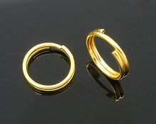 400 Split Rings - 8mm - Gold Plated - Double Open