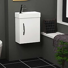 400mm Como Cloakroom Wall Hung Vanity Sink Unit
