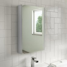 400mm Wall Hung Mirrored Bathroom Cabinet Grey