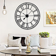 40CM Roman Numerals Metal Skeleton Wall Clock,