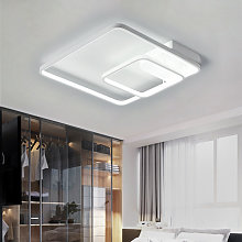 40CM Square LED Chandelier Ceiling Light , Cool