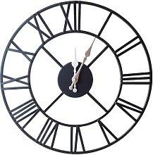 40Cm White Large Metal Skeleton Wall Clock