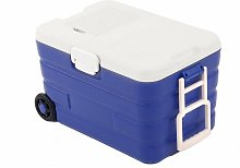 40L Rolling Ice Cool Box Cooler Portable Drinks