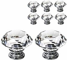 40mm Diamond Shape Crystal Glass Cabinet Knobs for