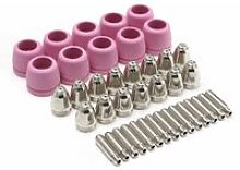 40PCS Plasma Cutter Torch Consumables Nozzle