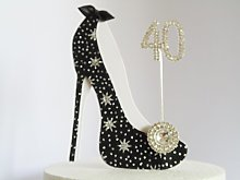 40th Birthday Cake Decoration Shoe (Star Design in