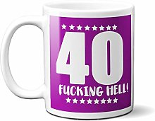 40TH Birthday F**King Hell Purple - White 15oz