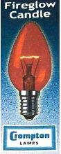 40w watt ses E14 Fireglow Candle Lamp Pack 10