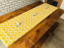 40x200cm COTTON TABLE RUNNER - GEOMETRIC VIVID
