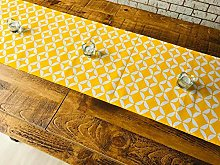 40x250cm COTTON TABLE RUNNER - GEOMETRIC VIVID