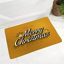 40x60 cm Happy Year Doormat Soft Flannel Rug for
