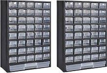 41-Drawer Storage Cabinet Tool Box 2 pcs Plastic -