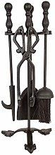 41cm Companion Set Black 4 Steel Tools Fireplace