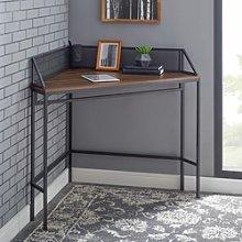 42 Industrial Corner Desk - Dark Walnut