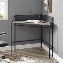 42 Industrial Corner Desk - Grey Wash