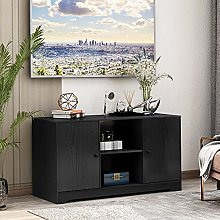 43 in TV Stand Cabinet with 2 Doors and Shelves,