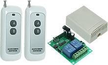 433MHz DC 12V 2CH Universal 10A Relay Wireless