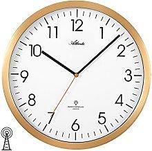 4382/9 WALL CLOCK RADIO ROUND GOLD PLATED