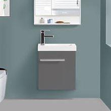 440mm Gloss Grey Cloakroom Basin Vanity Unit