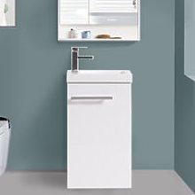 440mm Gloss White Floor Standing Cloakroom Basin