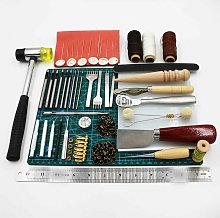 44Pc Retro Leather Craft Tools Kit Stitching