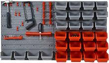 44pcs Wall Mounted Tool Organizer Storage Bin