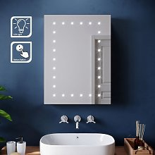 450 x 600mm Modern LED Mirror Cabinet Stainless