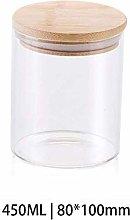 450ML Glass Airtight Storage Jar, Kitchen Food