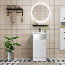450mm White Cloakroom Basin Vanity Unit Sink