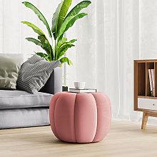 45CM Fabric Pumpkin Shape Footstool, Pink