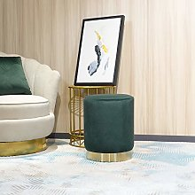 45cm Tall Ottoman Footstool,Velvet Round Modern