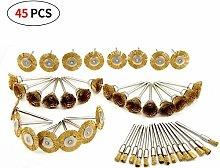 45PCS Copper Wire Wheel Brushes Polishing Parts