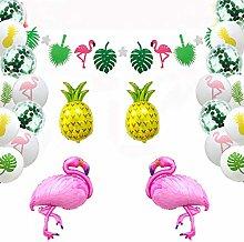 45PCS Hawaiian Tropical Decoration Set, Tropical