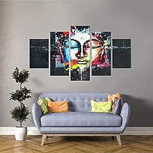 45Tdfc Canvas Picture Wall Art Print- 5 Piece