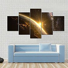 45Tdfc Wall Art Picture Canvas Print Earth With