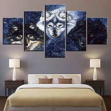 45Tdfc Wall Art Picture Canvas Print Wolves For