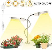45W LED Grow Light Bulb, 2 Replaceable E27 Plant