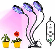 45w LED Plant Grow Light 3 Heads Adjustable Grow