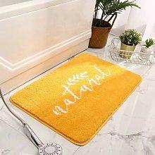 45x70cm yellow bathroom absorbent rug